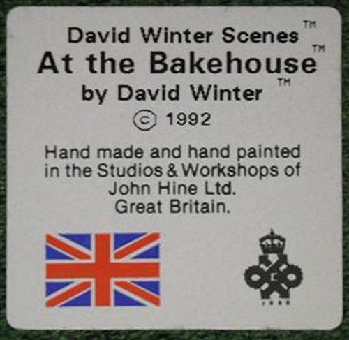David Winter Cottage Collection At The Bakehouse
